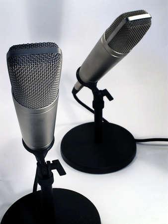 Two professional studio microphones. Standard-Bild