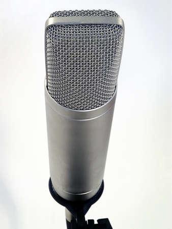 Close-up of professional studio microphone.