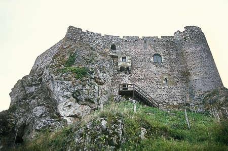 Lonely Kasteel gebeeldhouwd uit Stone Hill