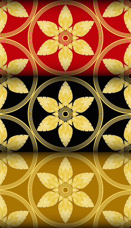 Gold Thai style Kra Jung pattern. seamless patterns can be used for wallpaper pattern fills and background. Vector