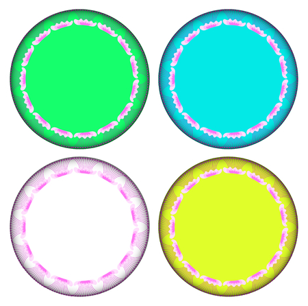 marvel: Pink Marvel of Peru circle frame. circle frame can be used for border and background. Illustration
