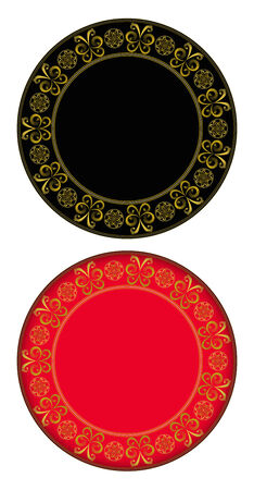 gold circle: Butterfly gold circle frame. circle frame can be used for border and background.