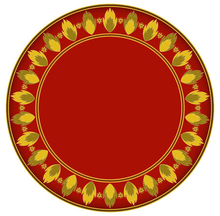 gold circle: Fire gold circle frame circle frame can be used for border and background