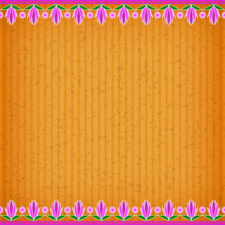 congratulate: Champaka orange card board texture for note or congratulate. Illustration