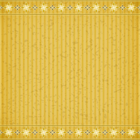 congratulate: Gold flower card board texture for note or congratulate.