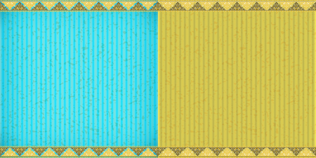 congratulate: Thai style complex blue and yellow card board texture for note or congratulate.