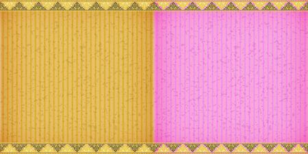 congratulate: Thai style complex  orange and pink card board texture for note or congratulate.