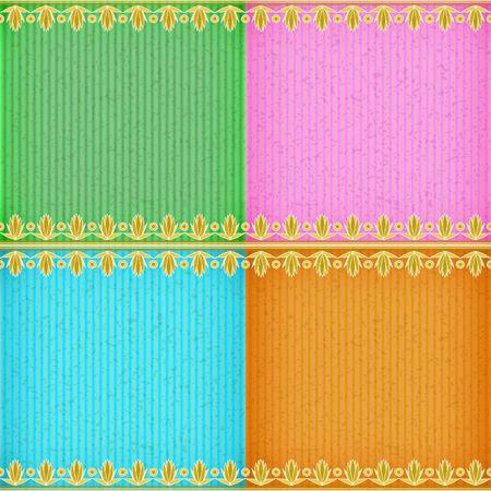 congratulate: Champaka gold card board texture for note or congratulate. Illustration