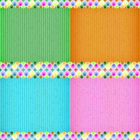 congratulate: Colorful balloon card board texture for note or congratulate.