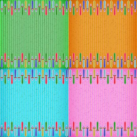 congratulate: Colorful sword card board texture for note or congratulate.