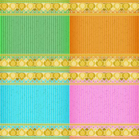 congratulate: Lotus gold card board texture for note or congratulate. Illustration