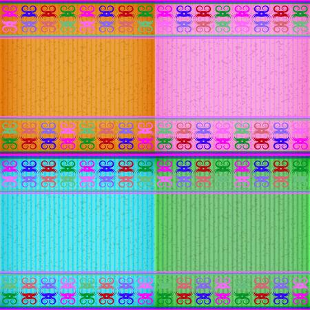 congratulate: Colorful crab card board texture for note or congratulate.