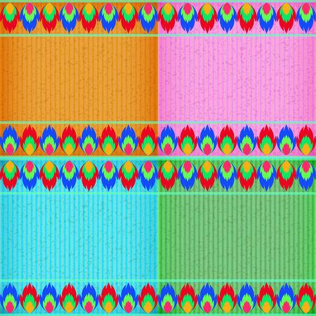 congratulate: Colorful fire card board texture for note or congratulate. Illustration