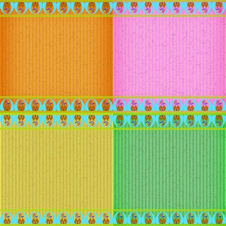 congratulate: Colorful Thai new style card board texture for note or congratulate.