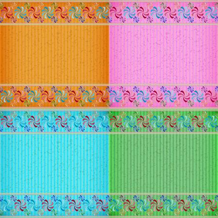 congratulate: Colorful windmill card board texture for note or congratulate. Illustration