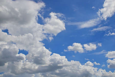 nebulosity: White cloud at atmosphere on blue sky as a background.