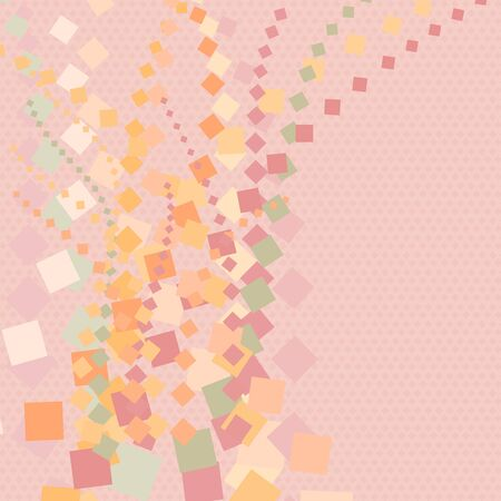 Abstract colorful diamond line geometrical on small diamond with pink background texture vector illustration and copy space.