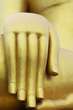 image of Buddha hand in Thailand photo