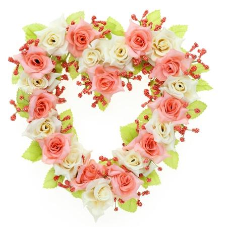 heart rose on white background Stock Photo - 15965286