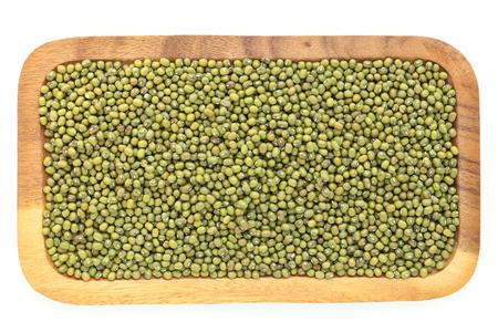 gram: green gram on white  background Stock Photo