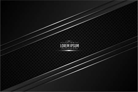 Metallic background.Black and silver with carbon fiber.Glow line metal technology concept.