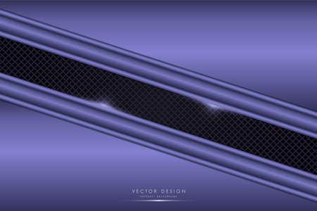 Metallic background.Purple with carbon fiber.Glow line metal technology concept.