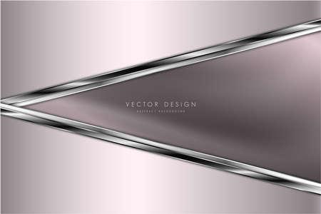 Metallic background.Luxury of pink and silver.Silk texture elegant metal modern design.