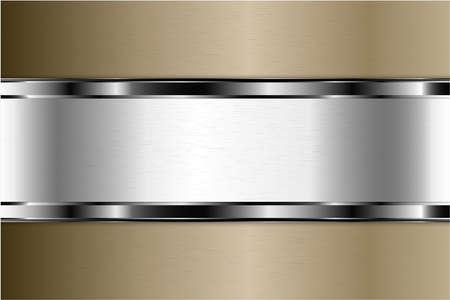 Metallic background. Luxury of gray and brown with silver glossy. Elegant metal modern design. Vektorgrafik