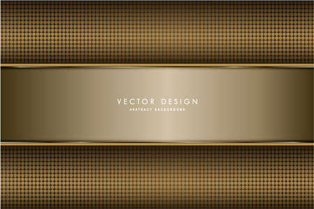 Metallic background.Luxury of gold and silver with carbon fiber.Golden metal modern design.