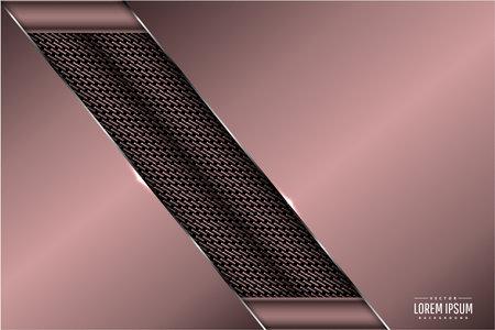 Luxury background of brown with carbon fiber texture.Elegant metal modern design.  イラスト・ベクター素材