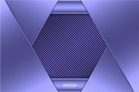 Luxury background of purple with carbon fiber texture.Elegant metal modern design.  イラスト・ベクター素材