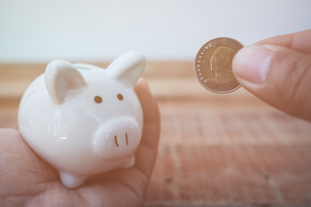 Saving money concept,