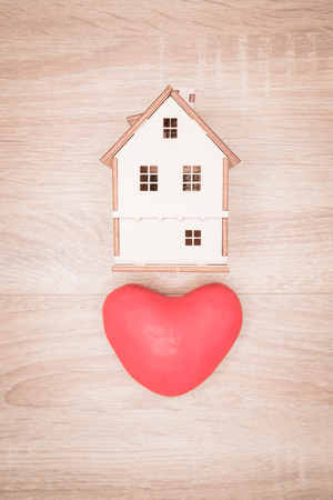 a house of love, Valentines Day concept.