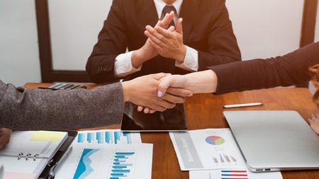 Business People Teamwork, People Meeting Social Communication Connection Teamwork Concept Zdjęcie Seryjne