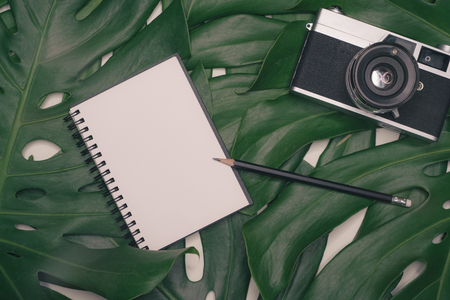 Creative flatlay with fashion object on white background Stock Photo