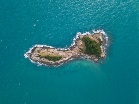 Aerial views of small island off Ko Samet, Thailand