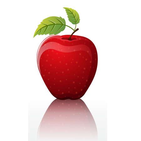 agrio: agridulce de manzana roja Vectores