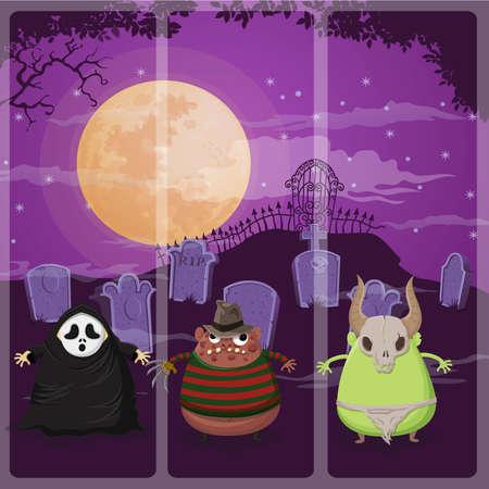 chucky: Happy halloween night on Scream,Freddy,Monster