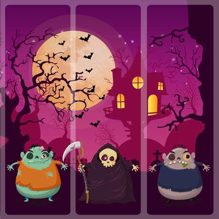 chucky: Happy halloween night on Zombie,Grim reaper,Zombie
