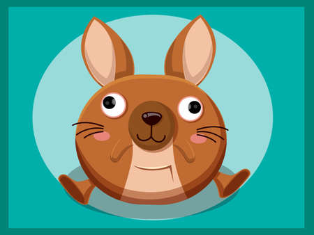 bebe a bordo: Cute Kangaroo Cartoon. Funny cartoon and vector animal characters