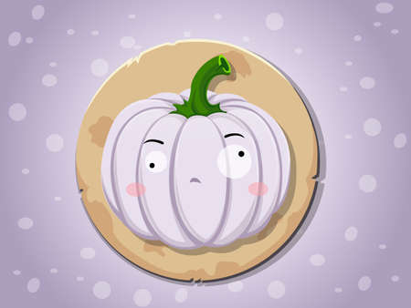 owl illustration: Ghost pumpkin icon vector,background Illustration