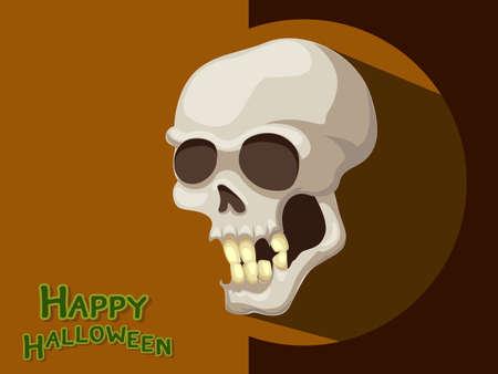 ghost house: Skull cartoon vector Halloween Background. Illustration