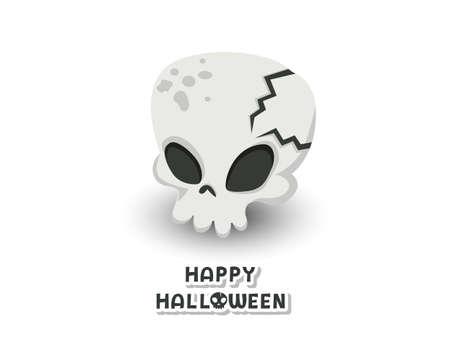 Happy Halloween. icon Skull vector. Concept Anatomic Skull Vector Art design. white background illustration