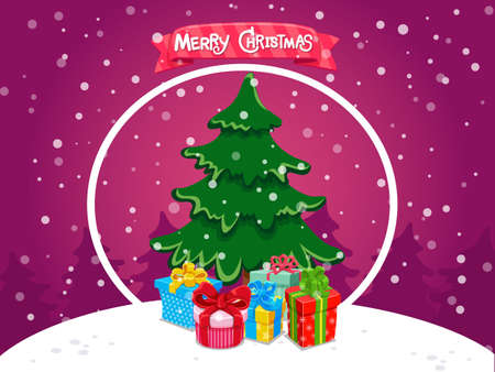Set of Merry Christmas greeting cards design. Celebration event for Merry Christmas and New Year. Vector clipart illustration on color background