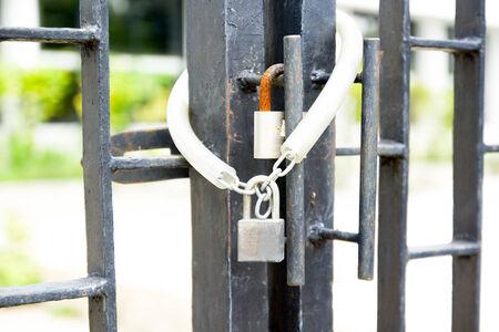 padlocked: Chain Key Lock Door Outside