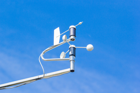 anemometer: close - up weathercock of weather station
