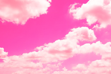 Beautiful sky with pink and clouds Stock Photo