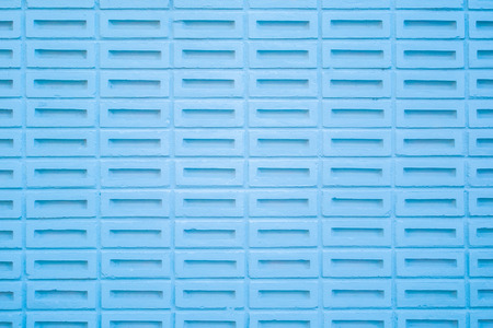 blue wall block structure background.