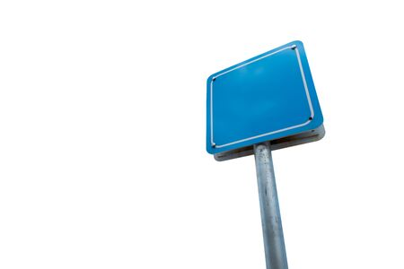 Blank sign blue color isolated on white background. Stock fotó - 133457338