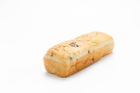 Raisin Bread on white background. Standard-Bild - 134095260